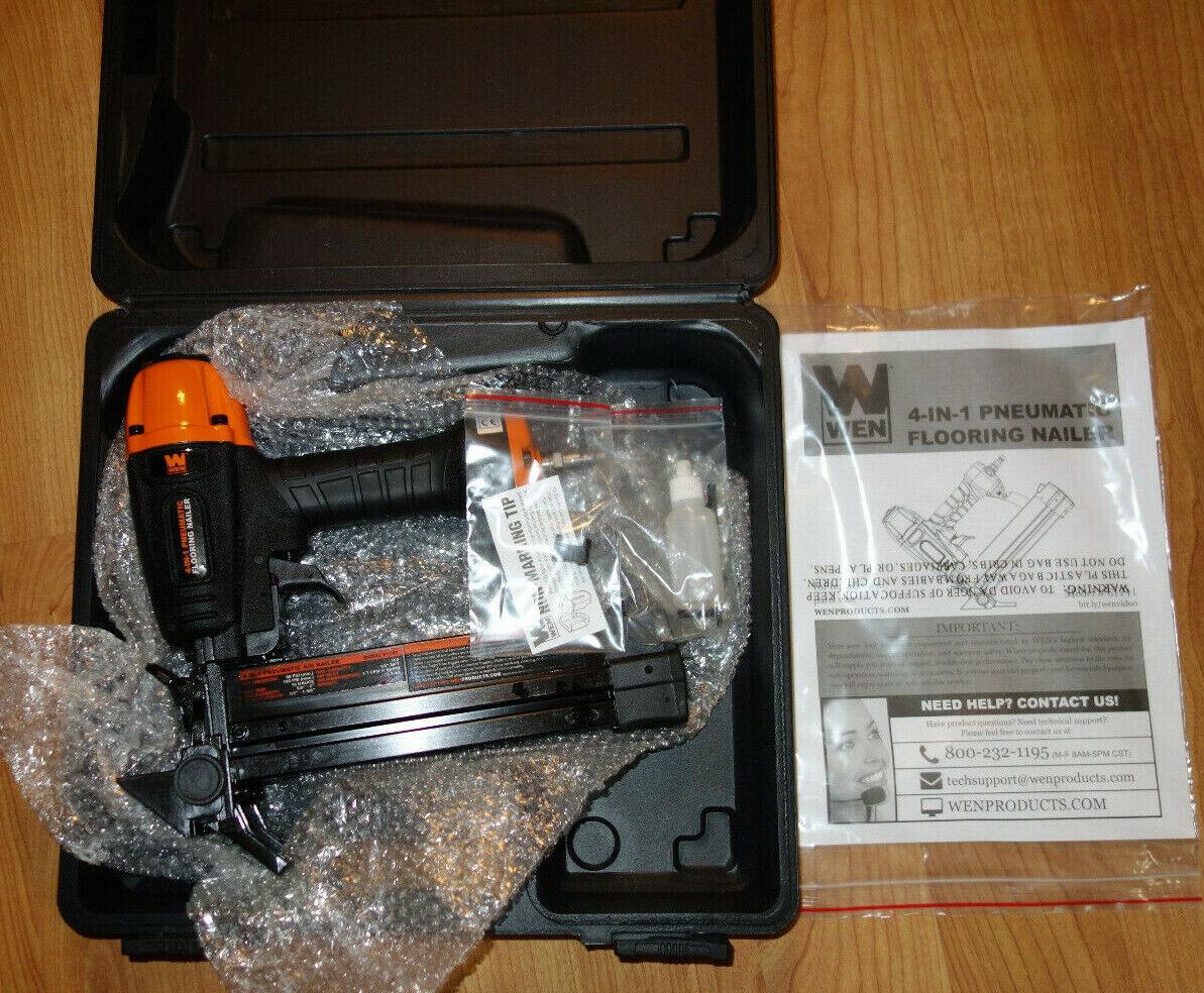 61741 hypermegasat Nail Gun 18-Gauge 4-in-1 Pneumatic Flooring Nailer and Stapler with Case