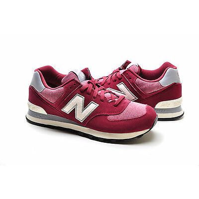 New Balance 574 Classic Traditionnels ML574PMW Maroon White Pennant pack