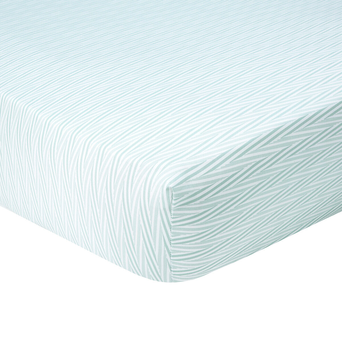 YVES DELORME = BOUQUETS FITTED SHEET 300TC EGYPTIAN COTTON 50% OFF