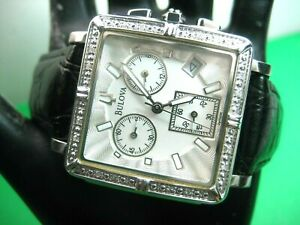 BULOVA-96R000-16-REAL-DIAMONDS-CHRONOGRAPH-LADIES-WATCH-S-S-CASE-amp-ANALOG-DAY