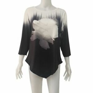 Elegant-Pullover-V-Neck-Tops-Floral-O-Neck-Loose-Fashion-T-Shirt-Womens-Top-New