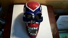 Human skull potery  skeleton bone statue sculpture art collectible figure