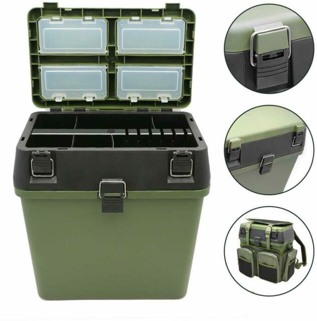 Tackle Box seat bucket box for camping fishing boating with back pack bag