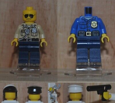 LEGO minifigure Police officer Police man with accessory city sets.