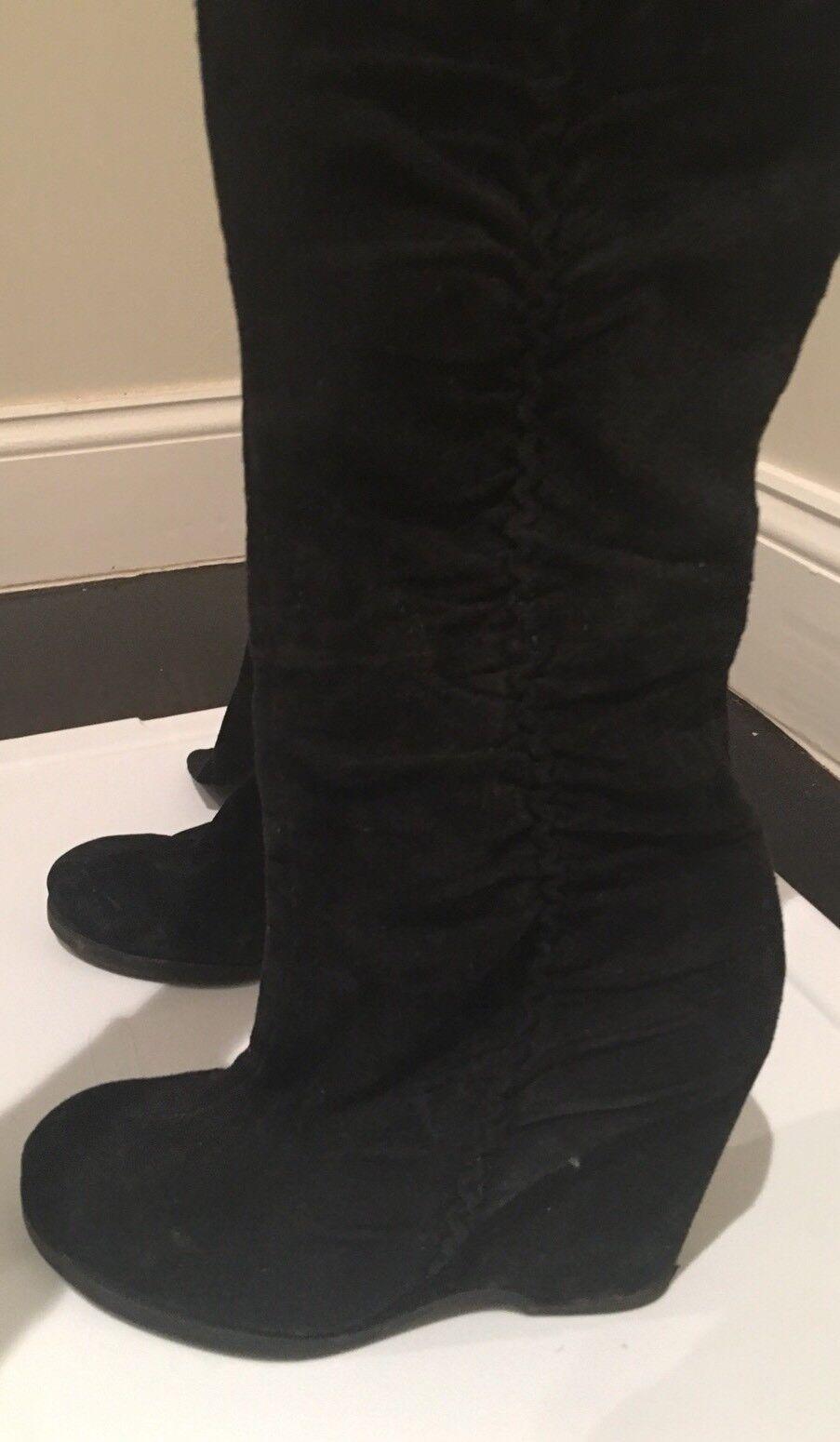 Authentic Mia bottes noires femmes Wedge long et serré sur les jambes très confortable 38