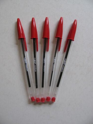 Bic Pens Various Biros Cristal Soft Feel Colours Red Blue Black Green School BN