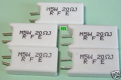 5 Watt 5w 5/% Resistors 20 Ohm Lot of 5