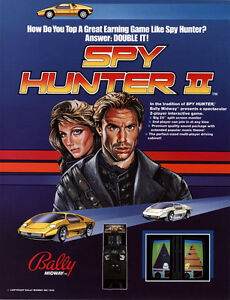 1986-BALLY-MIDWAY-SPY-HUNTER-II-VIDEO-FLYER