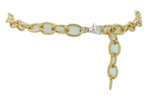 Women-Gold-Metal-Oval-Thick-Chain-Links-Fashion-Waisted-Belt-Hip-Waist-M-L-XL