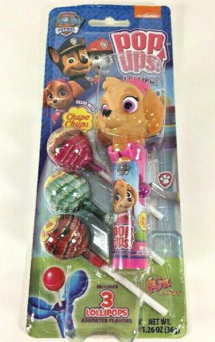 Flix Candy Pop Ups Lollipops Paw Patrol SKYE Rescue Pup Chupa Chups Valentine/'s