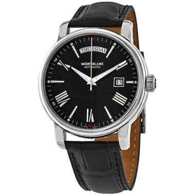 Montblanc 4810 Automatic Black Dial Black Leather Men's Watch