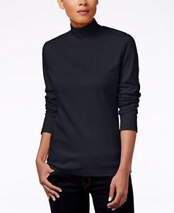 Karen Scott Petite Embellished Velour Hoodie Deep Black PXL