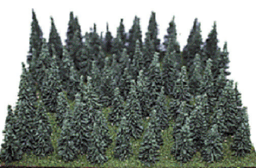 Heki 100 various small forest Pine trees   N scale set 309 imported  Germany