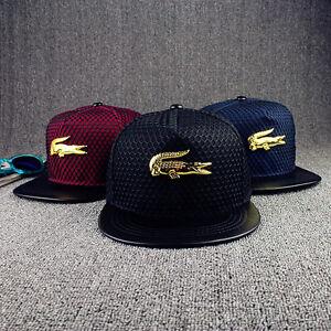 NUOVA-Linea-Uomo-Donna-Snapback-Cappello-il-coccodrillo-CAPPELLINI-regolabile-Cappelli-Hip-Hop