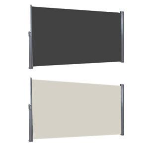 Seitenmarkise-Ausziehbar-Sichtschutz-Windschutz-Sonnenschutz-Seitenrollo-TUV