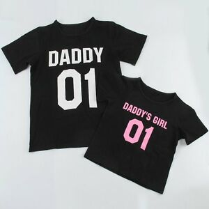 Father Daughter T-Shirt DADDY DADDY S GIRL Matching Shirt Family ... 5af9fd36d