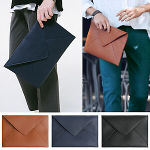 Image is loading Korea-New-Fashion-Modern-ENV-Clutch-Briefcases-Pouch- 6b0a5b74b5
