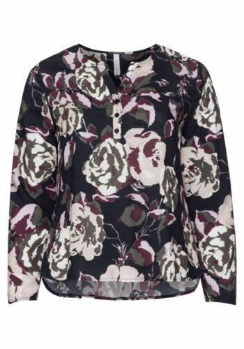 Sheego Damen Tunika Bluse Shirt Top Oberteil Rosa Blumen Mehrfarbig Abend NEU