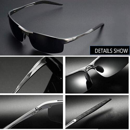 Men Outdoor Sport Goggles HD Polarized Fishing Sunglasses Aluminum UV400 Glasses