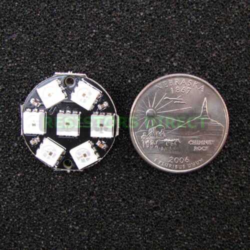 LED Jewel 7 x WS2812B 5050 RGB Integrated Drivers Arduino 7 Bit Y37