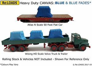 N or Small HO OO GREY Shades /& Fades Tarped Covered Sheeted Model Rail Loads