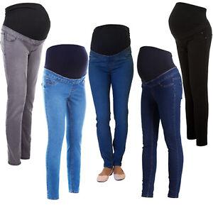 Detalles de New Look Skinny sobre Bump Maternity Jeggings embarazo Elástico Jeans Tallas 8 18 ver título original