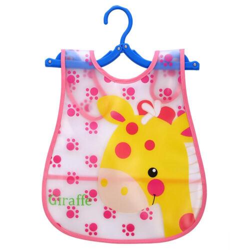 1-4T Cute Kid Toddler Bibs Baby Soft Cartoon Bib Waterproof Saliva Dripping Bibs