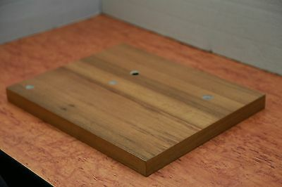 PLINTH UPGRADE FOR  REGA TURNTABLES RP1,Planar 2,RP3 etc Motor Pulley walnut