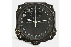 Cockpit-Aircraft-Clock-Dial-Breitling-Wakmann-Military-Montre-Bord-Swiss-Made