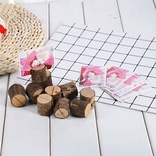 10pcs Natural Wooden Seat Place Holder Photo Table Number Wedding Supplies