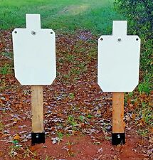 """Two 12""""X20""""  SILHOUETTE AR500 STEEL TARGETS and two TARGET STANDS"""
