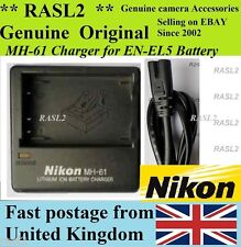 Genuine NIKON MH-61 Charger EN-EL5 CoolPix P80 P90 P100 P500 P5000 P5100 P6000
