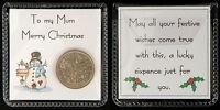 Lucky Sixpence Christmas Gift, Mum, Dad, Sister, Brother, Gran, Grandad