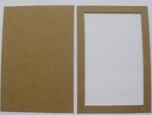 3 4 X 6 Frame And Back Mat Picture Photo Frames Bare Chipboard