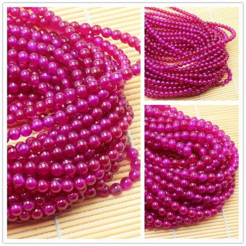 Plum agate 6mm,8mm Round Gemstone Loose beads 15/""