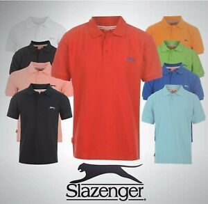 Enfants-Junior-Garcons-Slazenger-Plain-Polo-Shirt-homme-taille-Age-7-8-9-10-11-12-13-ans