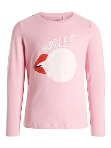 Name it Fille Chemise manches longues nkfvix Rosa Bubbles Taille 122//128 à 158//164