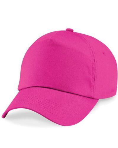 Kids Child Boys Girls Adjustable Plain BASEBALL CAP 5 Panel Hat 100/% Cotton UK