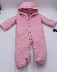 New-Ralph-Lauren-9-Months-Baby-Coat-Full-Coverup-Pink-Quilted-Style
