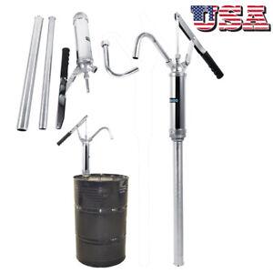 Lever Action Barrel Pump Transfer Fuel Diesel Hand Pump Oil 55 Gallon Drum Tank
