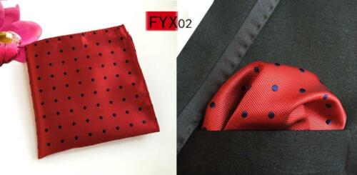 Pocket Square Handkerchief For Men/'s Formal Accessories Polka Dots Fashion Hanky