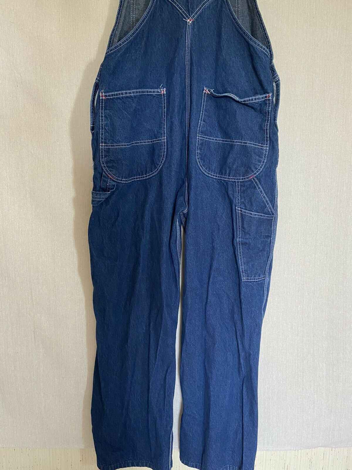 Dickies Denim Overalls Size 38x30 Fit 36x29 - image 7