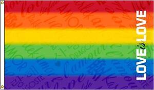 3/'x5/' Pride Rainbow LGBTQ Flag nylon Eder MADE IN THE USA
