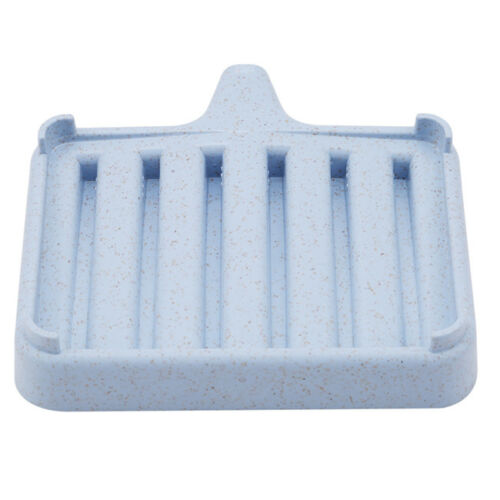 Portable Bathroom Silicone Soap Dish Storage Holder Soapbox Plate Tray Drain D