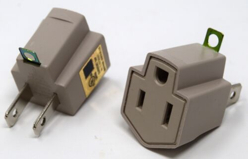 20 Pieces 3 Prong Plug to 2 Prong Outlet Electrical Ground AC Adapter UL Listed