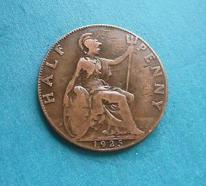 George V Halfpenny 1925 Excellent Condition - Herefordshire, United Kingdom - George V Halfpenny 1925 Excellent Condition - Herefordshire, United Kingdom