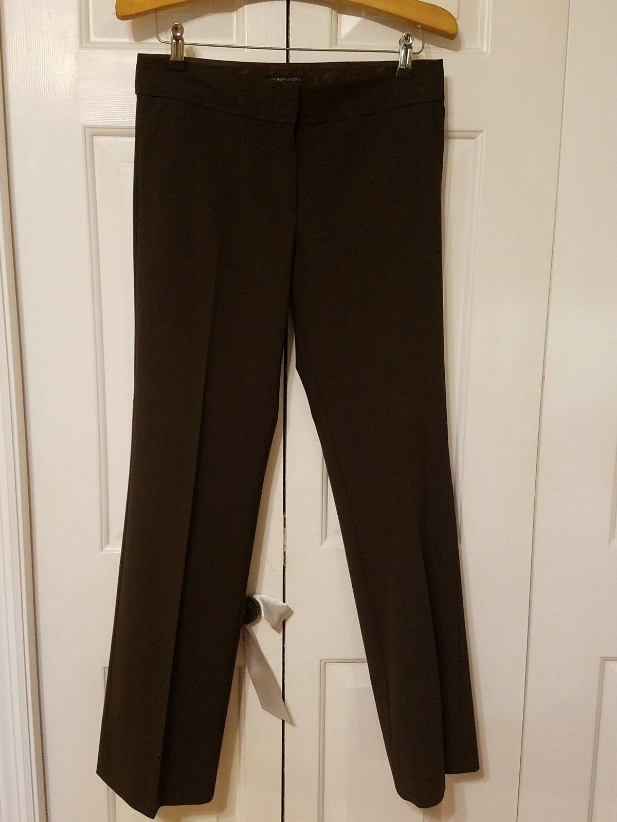 BCBGMAXAZRIA Brown Wool Blend Dress Pants Größe 4