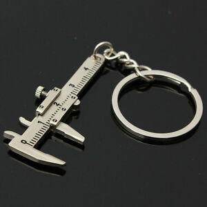 Useful-1Pcs-Novelty-Simulation-Movable-Vernier-Caliper-Model-Slide-Ruler-Keyring