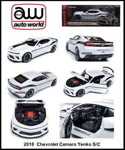 precios bajos Auto Auto Auto World Nueva Colección 2018 Chevy Camaro Yenko S C 1 18 escala Diecast Coche  todos los bienes son especiales