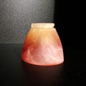 Glasschirm-Orange-Glas-Lampenschirm-Rund-G4-G9-GY6-35-Lampen-Ersatzglas